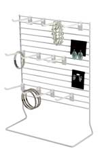 12-Peg White Wire Countertop Rack