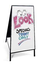 Dry Erase Board A-Frame Sidewalk Sign
