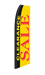 "Yellow, Black, Red ""Clearance Sale"" Wave Flag"