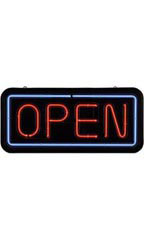 Real Neon Open Sign
