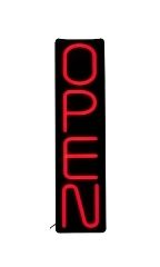 Vertical LED Neon Open Sign