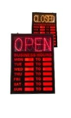 Open/Closed LED Sign with Hours