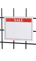"Flush Mount Acrylic Sign Holder for Slatwall or Wire Grid -5 ½""W x 7""H - Case of 5"