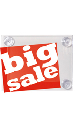 8 ½ x 11 inch Window Sign Holder with Suction Cups