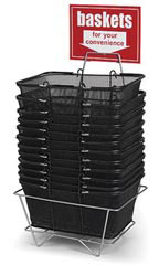 Black Metal Shopping Basket Set