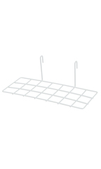 White Shoe Shelf for Wire Grid