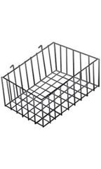 12 x 8 x 4 inch Black Mini Wire Grid Basket for Wire Grid
