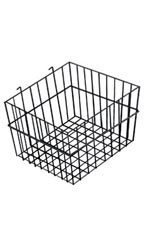 12 x 12 x 8 inch Black Mini Wire Grid Basket for Wire Grid