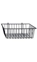 12 x 12 x 4 inch Black Mini Wire Grid Basket for Wire Grid