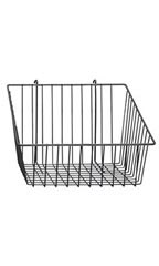 12 x 12 x 8 inch Black Mini Wire Grid Basket for Wire Grid with 4 inch Slanted Front Lip