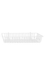 24 x 12 x 4 inch White Mini Wire Grid Basket for Wire Grid