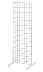2' x 6' White Standing Grid Screen - Includes Grid Panel & 2 Grid Legs