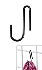 Black Display Hook for Wire Grid