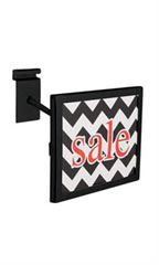 Rectangular Black Faceout Sign Holder for Wire Grid