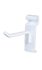 4 inch White Peg Hook for Wire Grid