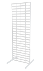 2 x 6 foot White Slat Grid Standing Grid Screen