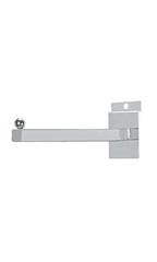 "12"" Straight Square Chrome Faceout for Slatwall - Case of 10"