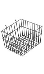 "Black Mini Wire Grid Basket for Slatwall or Pegboard - 12''L x 12''W x 8""D"