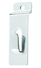Chrome Notch Hook for Slatwall