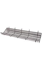 48 x 12 x 6 inch Black Downslope Shelf for Slatwall or Pegboard with 4 inch Slanted Front Lip
