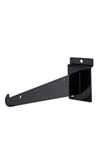 "8"" Black Shelf Bracket for Slatwall - Case of 10"