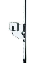 3 inch Chrome Dimensional Hangrail Bracket for Slotted Standard - ½ inch slots 1 inch on center