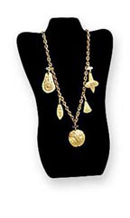 Black Velvet Tall Necklace Display Easel - Case of 25