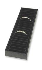 Black 21-Section Bracelet Tray with Velvet Inserts