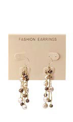 "Tan ""Fashion Earrings"" Earring Cards"
