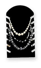 Black Flocked Slotted Necklace Display Easel - Case of 25