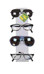 4 Pair Clear Plastic Countertop Eyeglass/Sunglass Display Easel