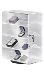 4-Shelf Rotating Pilfer-Proof Jewelry Display