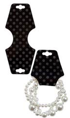 Black Dots Self-Adhesive Necklace Foldovers - Case of 500