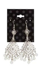Black Dots Earring Cards - Case of 250