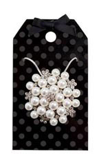 Black Dots Necklace Holder - Case of 150