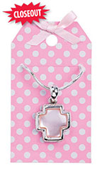 Pink Dots Necklace Holder - Case of 150