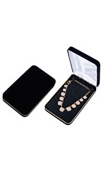Black Velvet Necklace Box - Case of 10