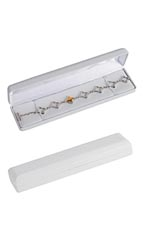 White Faux Leather Bracelet/Watch Box