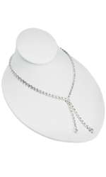 White Faux Leather Necklace Bust