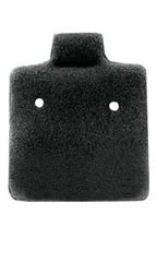 Black Felt Small Puffed Earring Cards - Case of 2,500