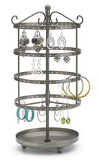 Small Tiered Round Rotating Jewelry Display