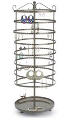 Large Tiered Round Rotating Jewelry Display