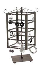 Small Tiered Square Rotating Jewelry Display