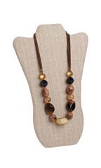 Linen Tall Necklace Display Easel - Case of 25