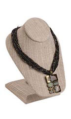 Linen Necklace Display on Stand - Case of 3