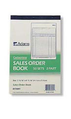 "Carbonless Sales/Purchase Order Book - 5 9/16""W x 8 7/16""H"