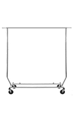 Chrome Single-Rail Collapsible Rolling Rack