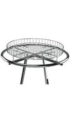 Wire Basket Round Clothing Rack Topper