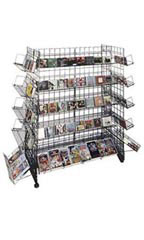 Black CD/DVD Grid Gondola Unit