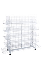 White CD/DVD Grid Gondola Unit